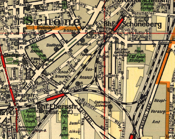 Bild: Stadtplanausschnitt 1932