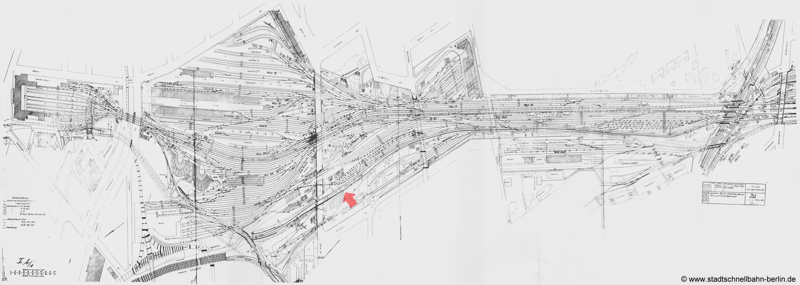 Bild: Gleisplan von 1944