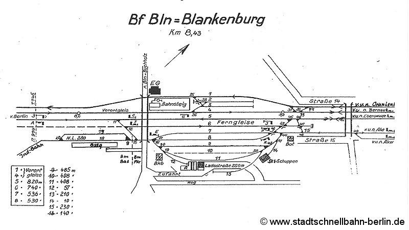 Bild: Gleisplan von 1962