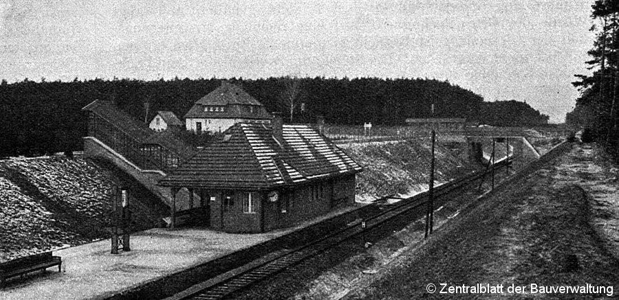 Bild: Ansicht des Haltepunktes um 1914