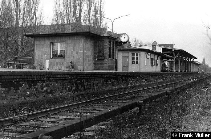 Bild: Bahnsteig um 1981