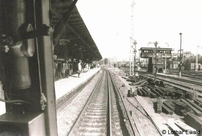 Bild: Einfahrt Bahnsteig