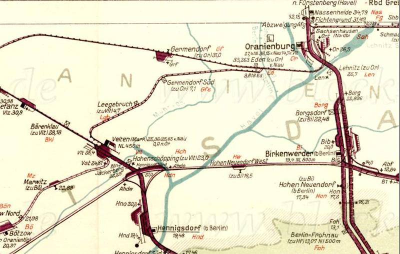 Bild: Gleisplan 1959