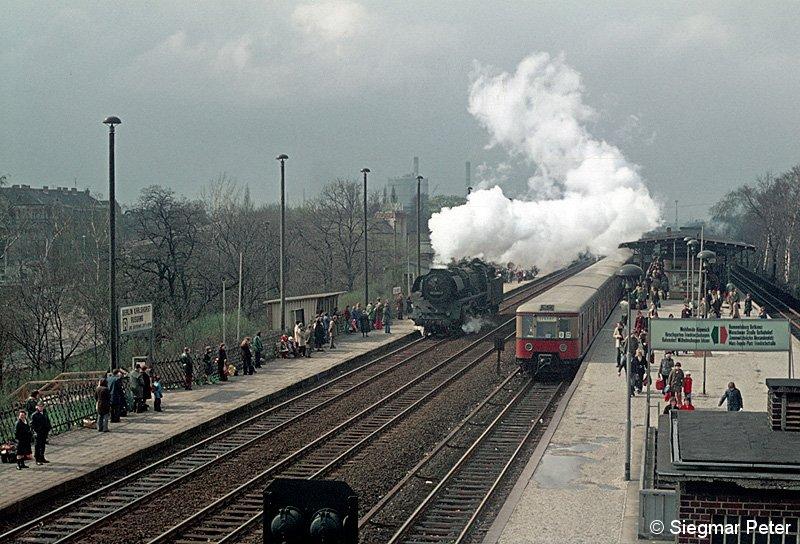 Bild: Zugverkehr im Frühjahr 1977