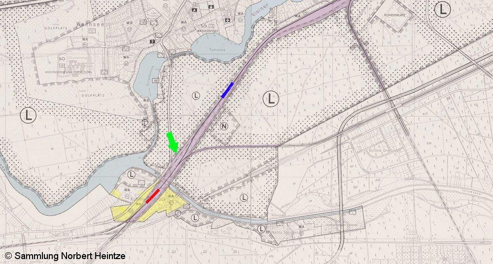 Bild: Ausschnitt Flächennutzungsplan 1965