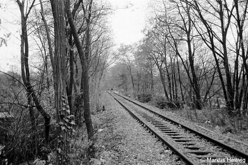 Bild: Streckenende Richtung Teltowkanalbrücke 1987