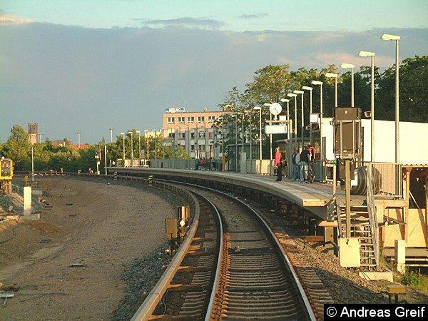 Bild: Behelfsbahnsteig 1