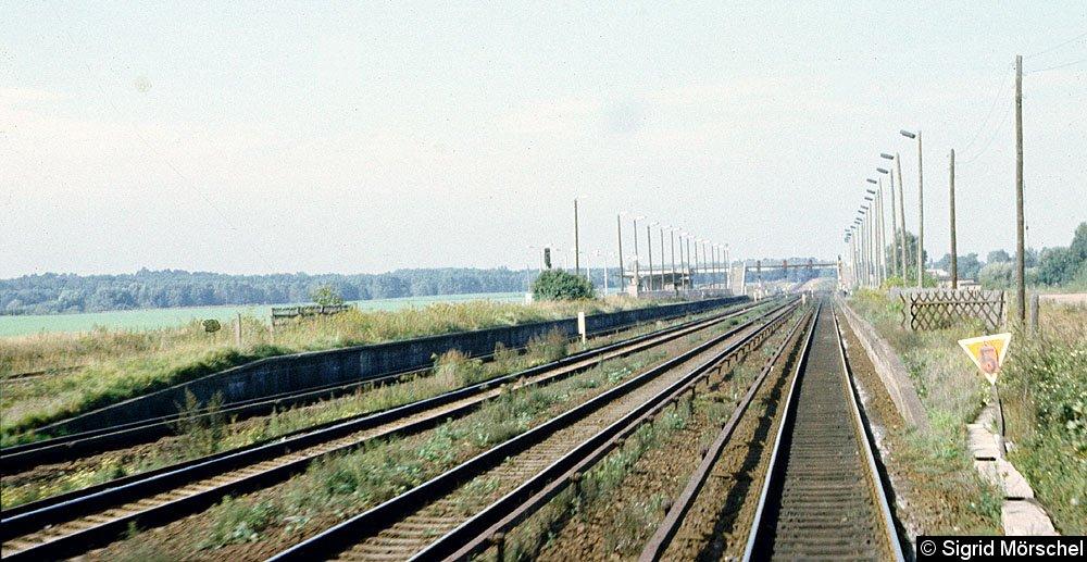 Bild: Einfahrt von Osten