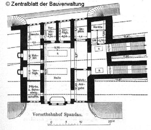 Bild: Grundriß Empfangsgebäude