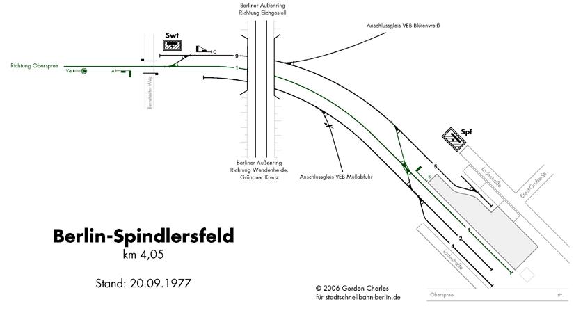 Bild: Gleisplan von 1977