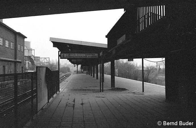 Bild: Bahnsteigansicht 1983