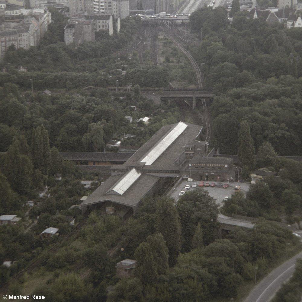 Bild: Blick vom Funkturm auf den Bahnhof