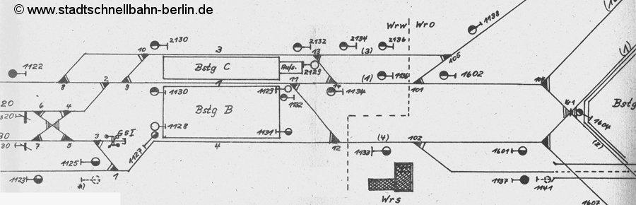 Bild: Gleisplan aus La 51. Woche 1986