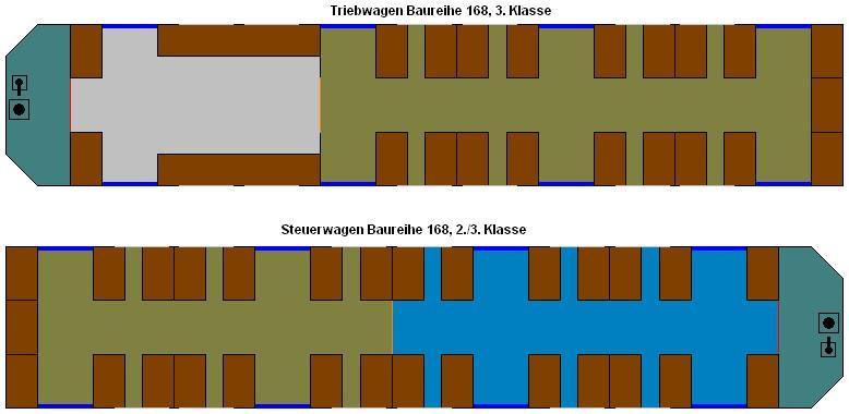 Bild: Sitzanordnung BR 168