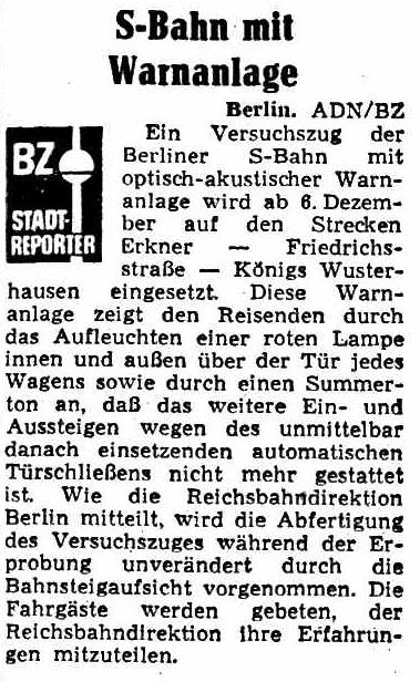 Bild: Artikel Berliner Zeitung vom 4.12.1975