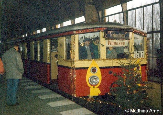 Bild: Weihnachtszug BVG 1987 - 1