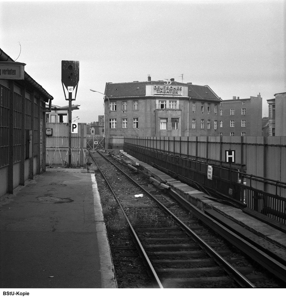 Bild: Ansicht westliches Bahnsteigende