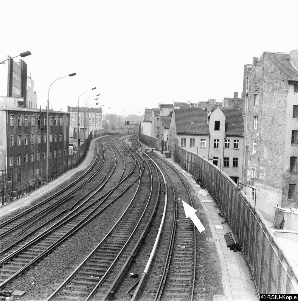 Bild: Westliches Gleisfeld nahe Stellwerk Friw-4