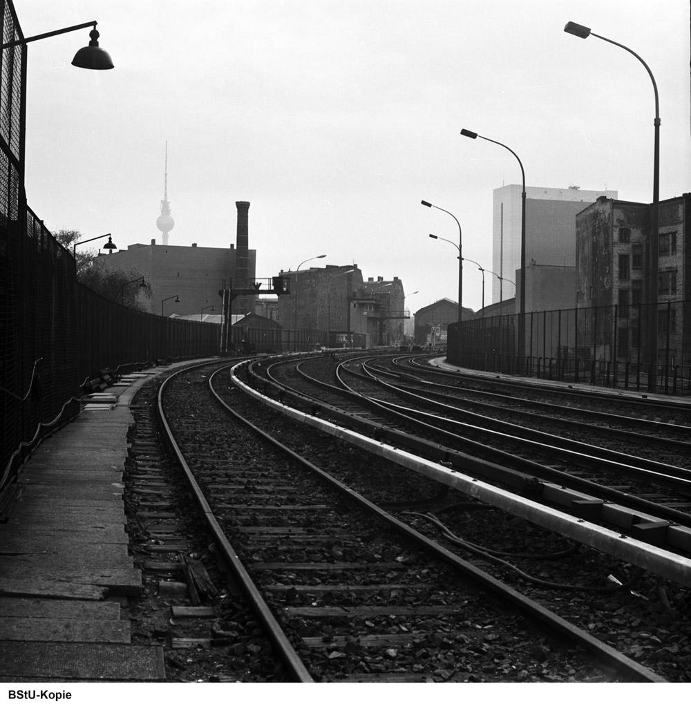 Bild: Westliches Gleisfeld nahe Stellwerk Friw-5