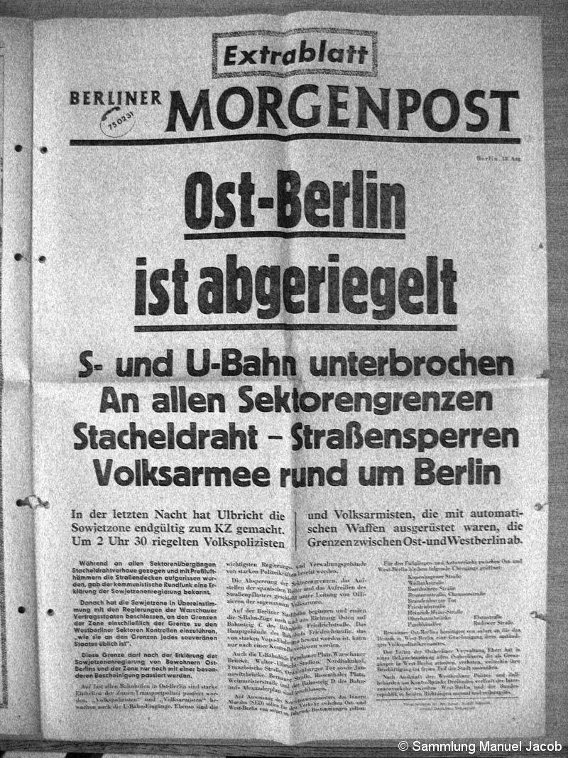 Bild: Faksimilie Berliner Moregnpost