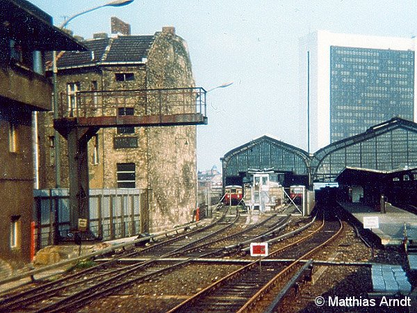 Bild: westliche Bahnhofsansicht 1984