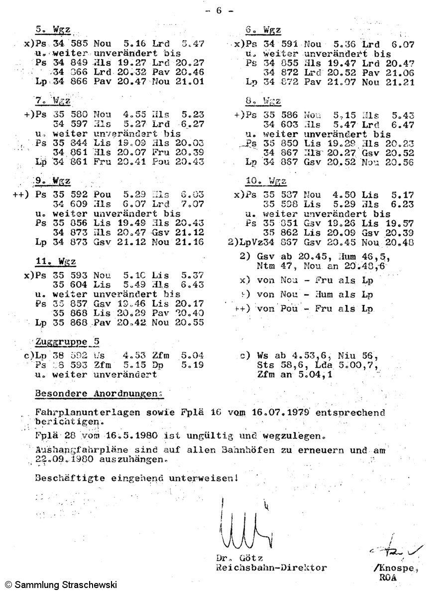 Fahrplanänderung 31 - letzte Seite