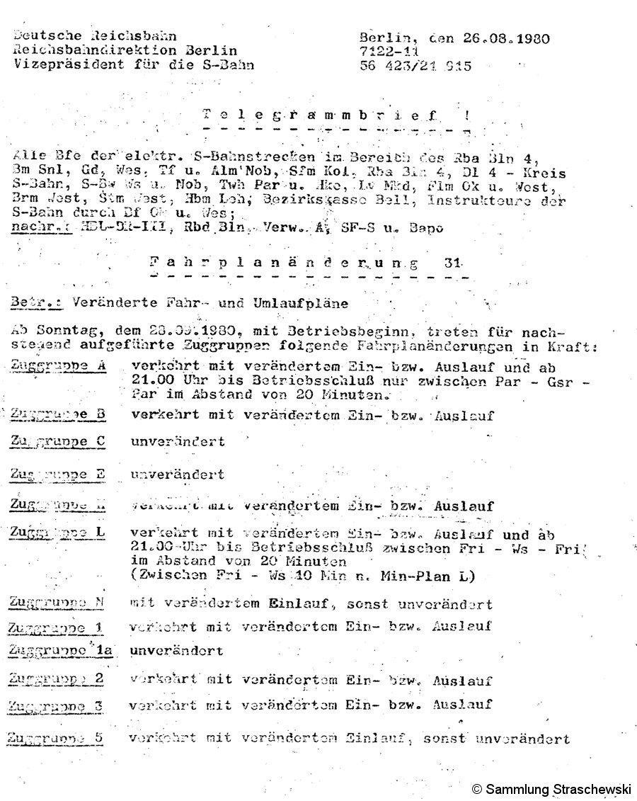 Fahrplanänderung 31 - Titel