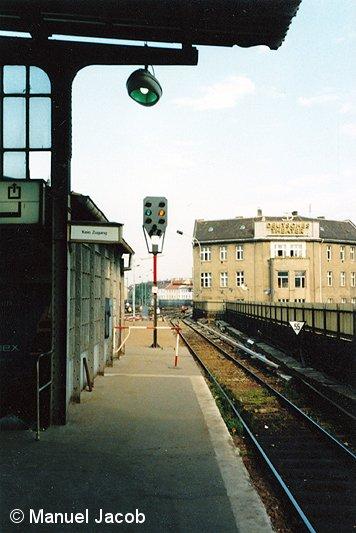 Bild: Gleissituation 1980er Jahre westliches Gleisfeld