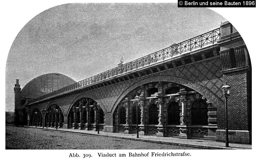 Bild: Viadukt am Bahnhof Friedrichstraße