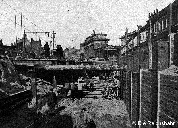 Bild: Baustelle nahe Brandenburger Tor.