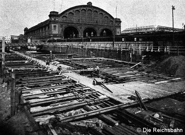 Bild: Bau S-Bahnhof Anhalter Bahnhof