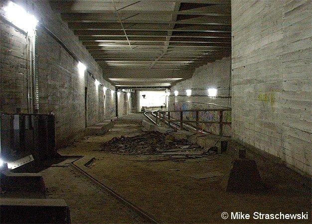 Bild: vorbereitete Ausfahrt Richtung Gleisdreieck