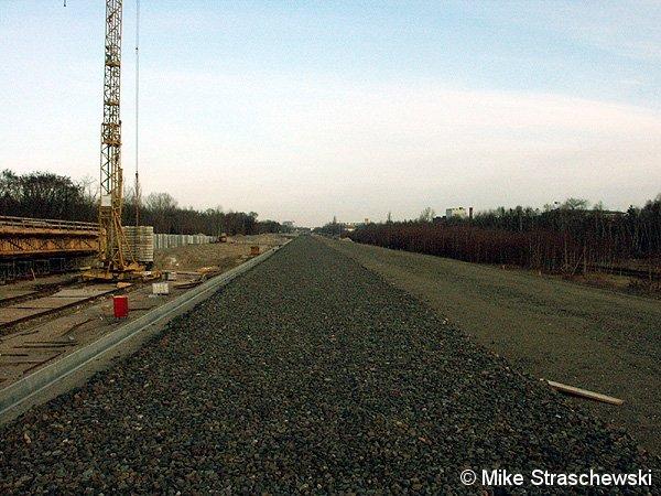 Bild: Neubaustrecke Richtung Norden