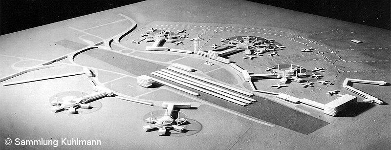 Bild: Modell Flughafen Bln-Schönefeld