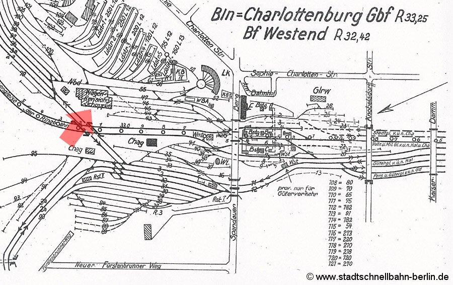 Bild: Gleisplan von 1954