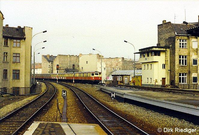 Bild: westliches Gleisfeld März 1992