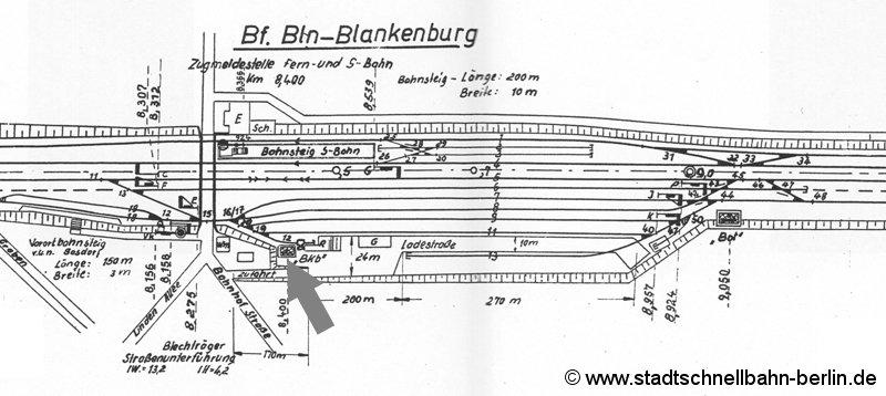 Bild: Gleisplan von 1967