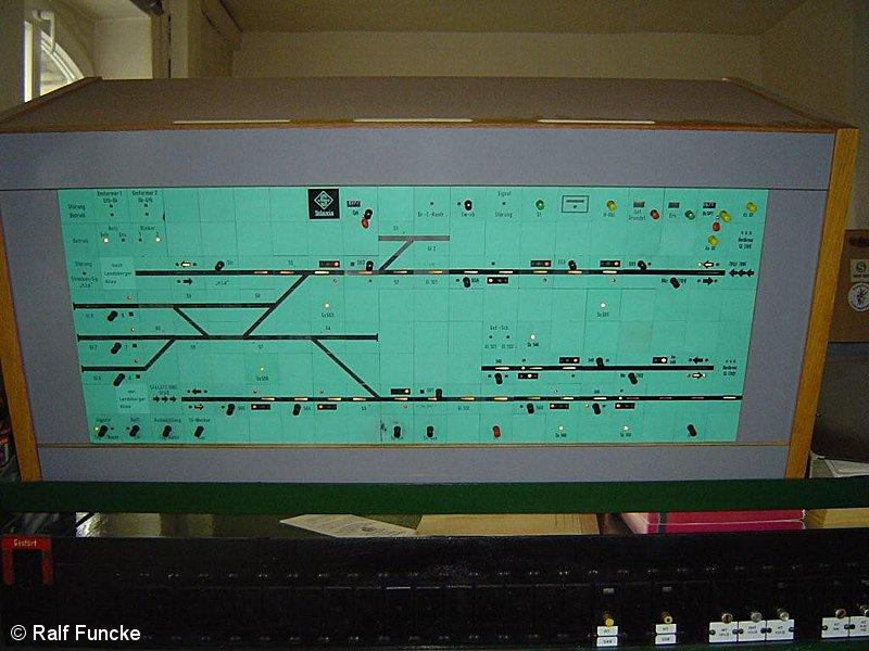 Bild: Stellwerk B3 - Gleisfreimeldetafel