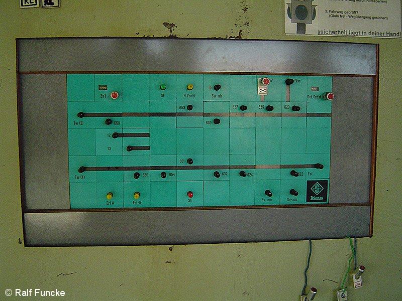 Bild: Stellwerk Okn - Bedientafel Signale